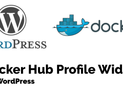 Docker Hub Profile WordPress widget